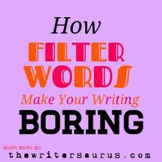 How Filter Words Make Your Writing Boring. All novice writers use filter words without even realizing it. You can significantly improve the quality of your writing by cutting filter words. Writing Resources, Writing Ideas, Writing Advice, Writing Help, Creative Writing, Writing Prompts, Story Prompts, Teaching Writing, Writing Quotes