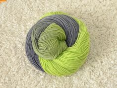 Hand dyed yarn Fingering weight Superwash by mustardseedyarnlab, $17.00