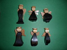 Wood Miniature Angel Ornaments by dreamwvr81 on Etsy, $12.75