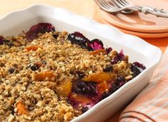 blueberry-peach crisp