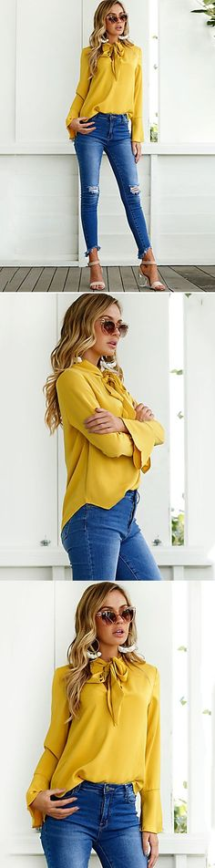 Tired of boring shirts? Try out this gorgeous yellow blouse. Wear or not? Available for €9.69. Click or tap the image for shopping!