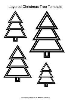 christmas tree writing template