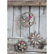 Creative Co-op Pastel Tinsel and Glass Ornament Style: Circle with Balls