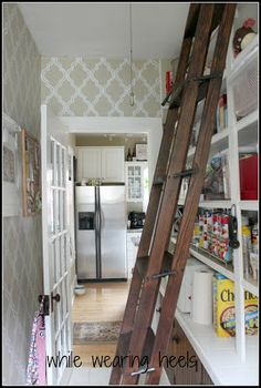 While Wearing Heels: 100 Year Old Pantry - The Big Reveal