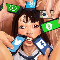 A selection of trash and committed illustrations of the artist Luis Quiles, aka Gunsmithcat, a Spanish illustrator who gives us a very raw and rough vision