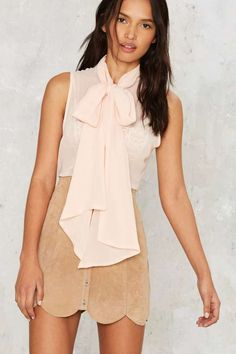 Nasty Gal Set You Free Pussy Bow Blouse - Blouses