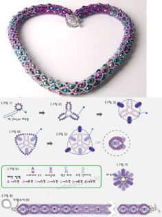 Netting bead necklace