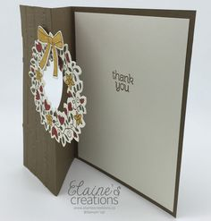 Use the Stampin' Up! Circle of Spring to create an Autumn Thank You Card! Elaine's Creations