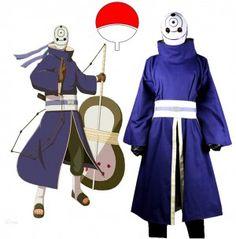 Naruto Shippuden Uchiha Obito Cosplay Costume with Mask Custom Made