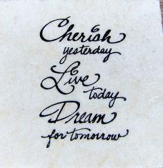 "Inspirational ""Cherish Life"" Marble Coaster by CircleOakTreasures on Etsy"
