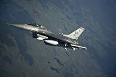 A U.S. Air Force F-16C Fighting Falcon from the 77th Fighter Squadron, Shaw Air Force Base, S.C., flies a combat training mission over the Joint Pacific Range Complex near Eielson AFB, Alaska, June 20, 2012, during Red Flag-Alaska 12-2.