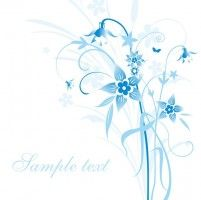 Abstract Blue Floral Vector Illustration
