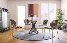 Wine and dine in style with these stunning pieces adorning your home. Versatile and durable, these sleek dining tables and chairs let you indulge in long-lasting luxury. Round Dining Table, Dining Room Table, Table And Chairs, Home Decor Inspiration, Decor Ideas, Summer Sale, Contemporary, School Projects, Luxury