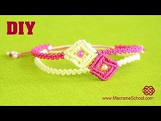 DIY Easy Macramé Square Bracelet Tutorial - YouTube