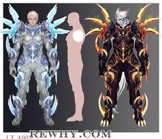 Aion Early Armor Concepts - The Art of Aion Online