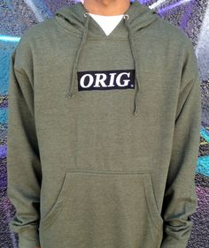 """""""ORIG"""" EMBROIDERED PULLOVER HOODIE $55.00"""