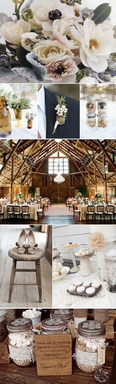 ♡ Rustic brown #winter #wedding #Inspiration