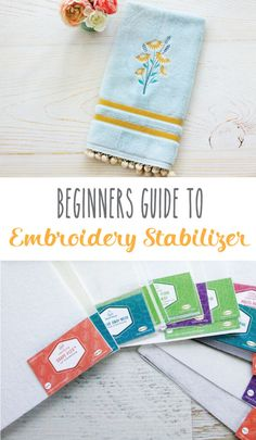 Beginner's Guide to Embroidery Stabilizers - a helpful place to start if you are just learning machine embroidery! Babylock Embroidery Machine, Brother Embroidery Machine, Machine Embroidery Quilts, Machine Embroidery Projects, Embroidery Supplies, Free Machine Embroidery Designs, Embroidery Ideas, Hand Embroidery, Embroidery Machines