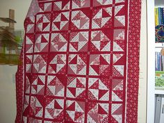Red and white by namawsbuzyquiltn, via Flickr