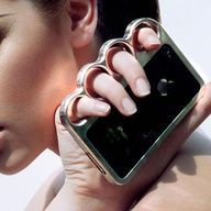 #iPhone Case / Personal Protection by #Knucklecase This is a knockout! #LynnFriedman #iPhone #IntelligentDesign #Gadget #GadgetLove #protection #security #design