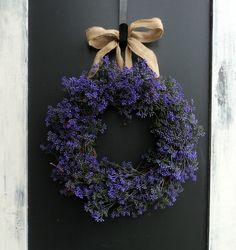 Purple Berry  and Burlap Wreath by MelanieLeeDesign on Etsy, $65.00