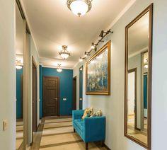 Длинный коридор, мозаичное пано как арт-обюект