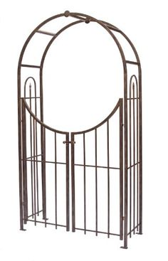 Panacea Products Arched Top Garden Arbor with Gate, Brushed Bronze Panacea Products,http://www.amazon.com/dp/B001CARPAU/ref=cm_sw_r_pi_dp_dM2utb05MRXKS5NK