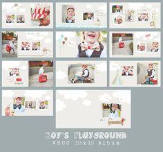 Knaben Spielplatz 10 x 10 Whcc Flushmount Album DOWNLOAD Kids Photo Album, Photo Album Book, Photo Books, Book Design Layout, Album Design, Book Projects, Photo Projects, Baby Girl Scrapbook, Photo Album Scrapbooking