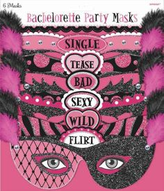 Bachelorette MasksParty | 6ct