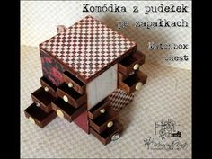 Retro Kraft Shop: Filmowy Retro Tutek - Komódka z pudełek po zapałkach / Video Retro Tutorial: Matchbox chest of drawers