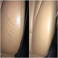 It's easy to wear down bolsters getting in and out of your car. But this can be fixed and back looking like new with leather colourant kit #scratches #leather #restore #repair #recolour #fix #carinterior #car #interior #scuffs