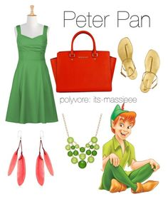 Peter Pan by its-massieee on Polyvore featuring polyvore, fashion, style, eShakti, Sergio Rossi, Style & Co., Etro, women's clothing, women's fashion, women, female, woman, misses and juniors