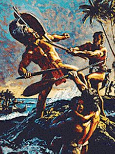 King Kamehameha I, the first ruler of all the Hawaiian Islands, lived before European influence became strong in the central Pacific, from 1758 to 1819.     He had a reputation for independence, strength, justice and compassion -- combined with a fierce determination to unite the people of Hawaii.