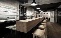 Industrial interior restaurant design
