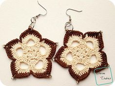 """Earrings are a fun and quick way to show off your crochet skills on a daily basis. Make a few and you can wear outside wait for the compliments to roll in, because they will."""