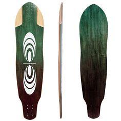 Subsonic Skateboards Pulse longboard bottom profile top