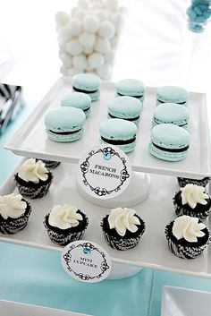 Tiffany Blue & Zebra Stripe Dessert Table | Flickr - Photo Sharing!