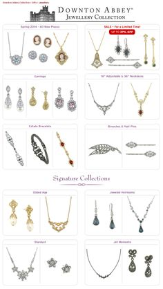 Shop PBS - Gifts: Downton Abbey Jewellery