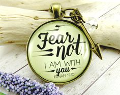 Fear Not Fearless Necklace Scripture Pendant by GutsyGoodness