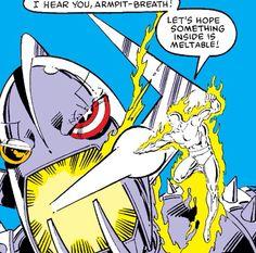 Human Torch Mister Fantastic, Fantastic Four, Invisible Woman, Human Torch, Splash Page, Enemies, Color Splash, Marvel, Comics