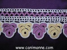 Havlu Kenarı Örnekleri (7) Crochet Lace, Crochet Stitches, Crochet Patterns, Romanian Lace, Crochet For Beginners, Crochet Projects, Crochet Earrings, Cross Stitch, Knitting