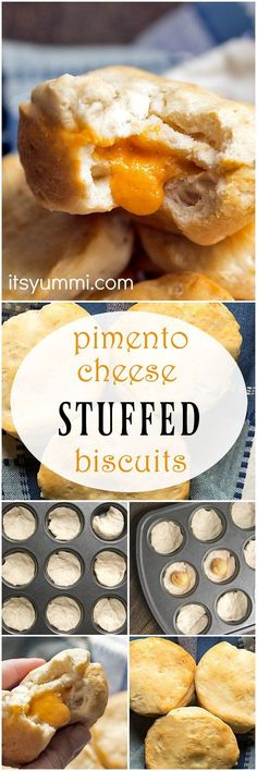 Pimento cheese stuffed buttermilk biscuits are big, flaky homemade biscuits. You will love this super easy biscuits recipe!