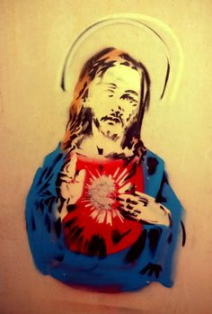jesus gsus street art christ pochoir graffiti