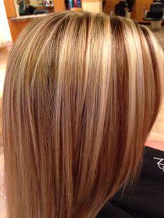 Blonde and Carmel foils done 10-31-13 @Michelle Theilmann