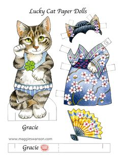 Lucky Cat Paper Dolls published by Dover
