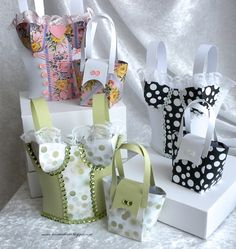 Monis-Kreativallerlei, 3D paper projects, gift bags