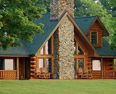 Log Home-I've always wanted one.