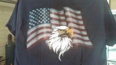 Airbrushed USA T-shirt