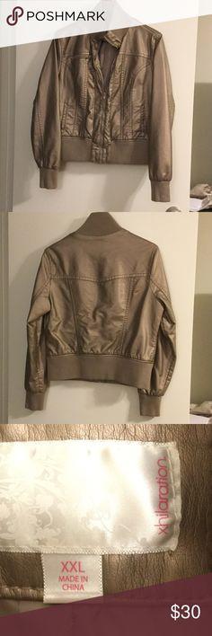 Bomber style jacket🎉 Bomber style jacket- champagne metallic color size XXL- juniors size XXL Xhilaration Jackets & Coats