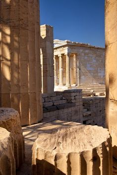 Ancient Hellas, Sparta, Troy Ruins of Temple of Athena on the Acropolis Athens Acropolis, Athens Greece, Mykonos Greece, Crete Greece, Sparta Greece, Ancient Ruins, Ancient Greece, The Places Youll Go, Places To See